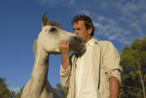 man and little horse